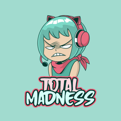 Kawaii Twitch Emote Logo Featuring a Mad Character 3957f