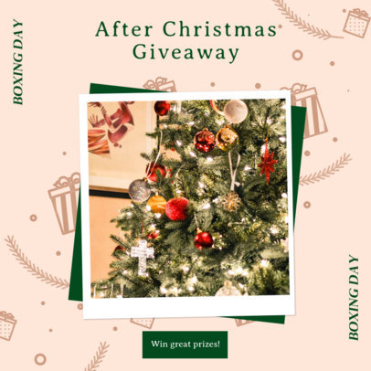 Instagram Post Template for an After Christmas Giveaway 3282f