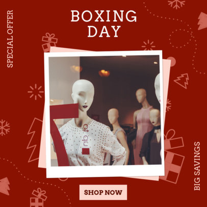 Instagram Post Maker for a Boxing Day Fashion Sale 3282h