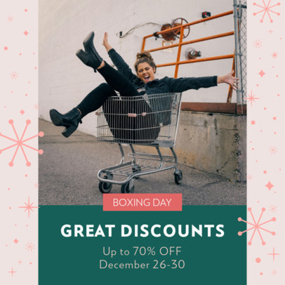 Instagram Post Maker for Boxing Day Discounts 3283l