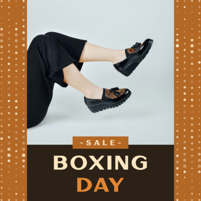 Instagram Post Creator Featuring a Dotted Pattern for a Boxing Day Sale 3283h