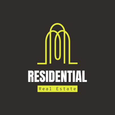 Real Estate Logo Maker Featuring Minimal Abstract Illustrations 3989