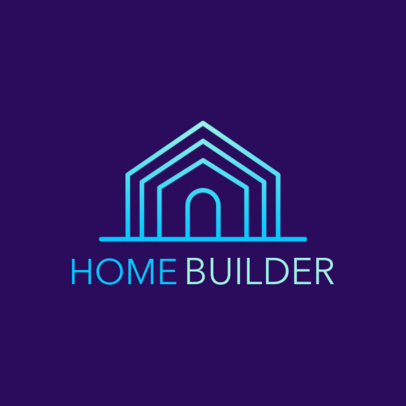 Logo Maker for a Real Estate Firm with a Minimalist House Icon 3990c