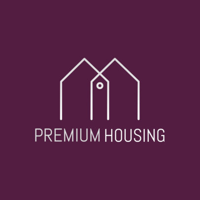 Logo Creator for a Premium Housing Company with Minimalist Graphics 3990d