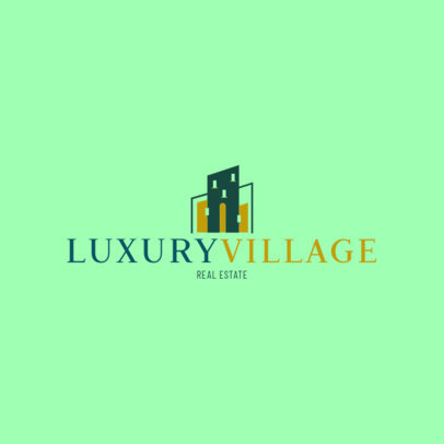 Logo Maker for a Real Estate Firm with Contemporary Architecture Graphics 3991C