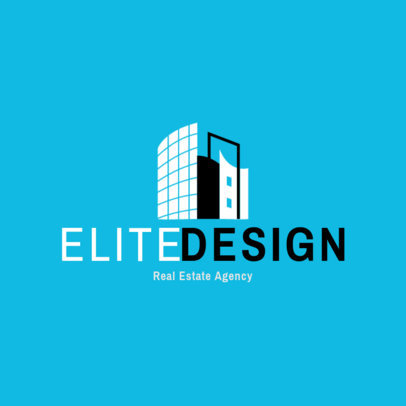 Real Estate Agency Logo Generator with a Luxurious Building Graphic 3991L