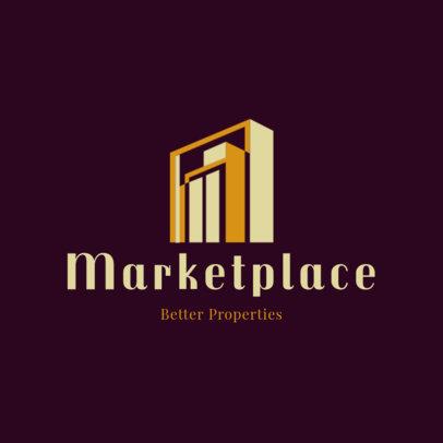 Real Estate Broker Logo Creator with a Modern Building Icon 3991O