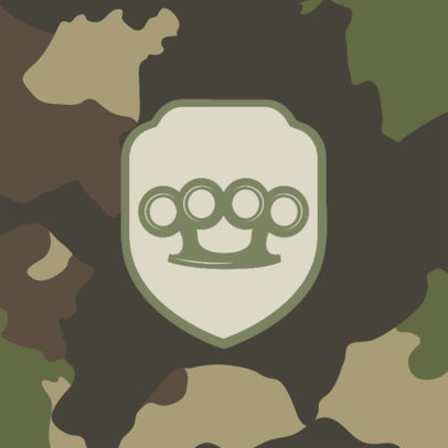 Patreon Profile Picture Generator for Gamers with a Camouflage Background 3388b-el1