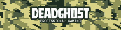 Patreon Cover Design Template for Professional Gamers Featuring a Military  Pattern 3385e-el1