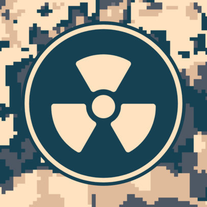 Patreon Profile Picture Generator with a Nuclear Icon and a Camo Texture 3384c-el1