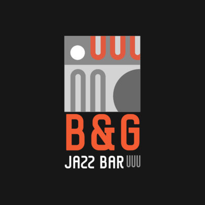 Jazz Bar Logo Creator with an Elegant Abstract Illustration 3986i