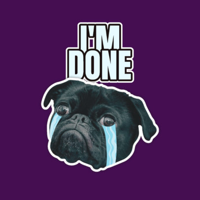 Twitch Emote Logo Generator Featuring a Crying Dog Clipart 3980a