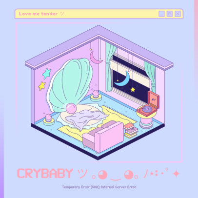 Fun Illustrated Album Cover Creator for a J-Pop Idol 3312b