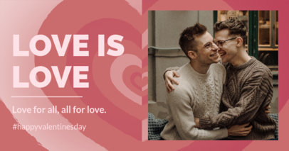 Facebook Post Creator for a Happy LGBTQ Valentine's Day 3301c