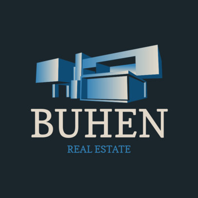 Logo Maker for a Real Estate Company Featuring a Modern Building Illustration 3988a