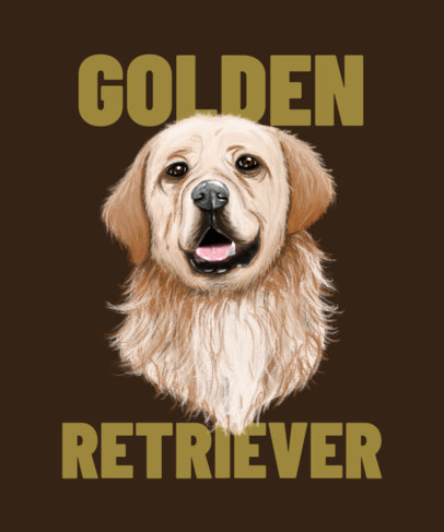 Illustrated T-Shirt Design Maker for Dog Enthusiasts 3322