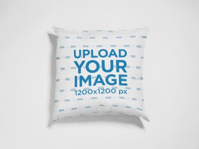 Pillow Mockup Lying on a White Surface  a15117
