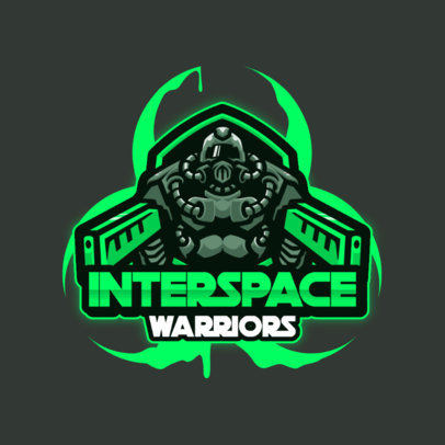 Gaming Logo Generator Featuring a Warrior from Space 3460c-el1