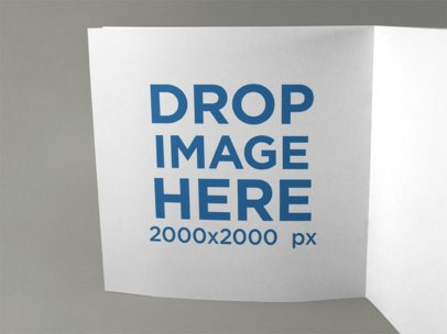 Open Square Booklet Template Standing on a Solid Surface a15092
