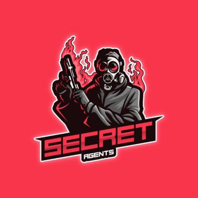 Gaming Logo Maker Featuring a Shooter with a Gas Mask 3456a-el1