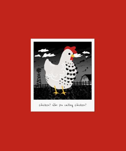 T-Shirt Design Maker with a Cute Chicken Illustration 3414g