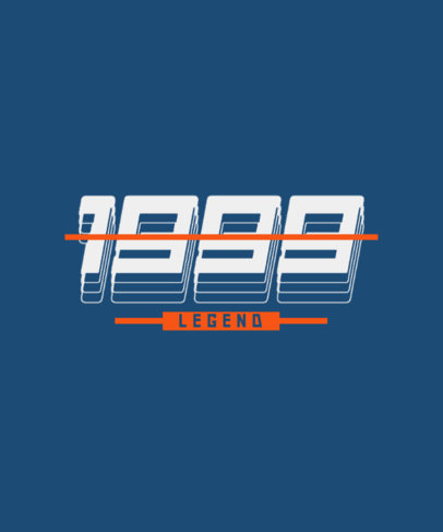 T-Shirt Design Generator Featuring Numbers in a Retro Typography 3336a