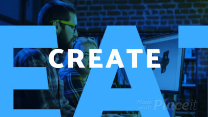 Modern Slideshow Video Generator Featuring Bold Typographies 1258d-2699