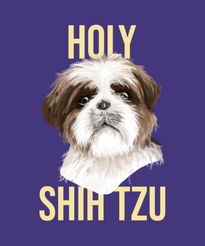 T-Shirt Design Generator Featuring a Shih Tzu Illustration 3322d