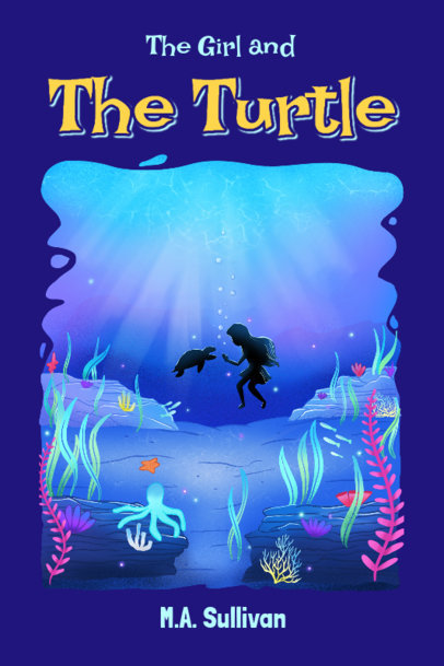 Cover Design Template for a Children's Book with a Beautiful Illustration 4008b