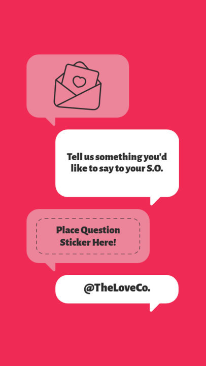 Instagram Story Maker Featuring Valentine's Day Questions 3458b-el1