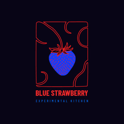 Logo Maker for an Experimental Restaurant Featuring a Strawberry Graphic 4009l