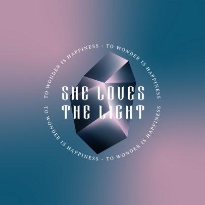 3D Logo Template Featuring an Abstract Geometric Shape 4010b