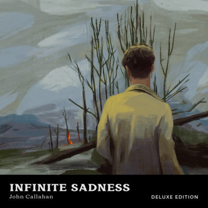 Album Cover Maker for a Soul Singer with a Melancholic Painting 3319d