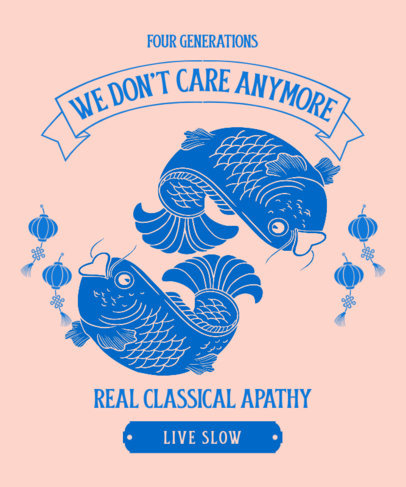 T-Shirt Design Generator with an Asian-Styled Fish Graphic 3321e