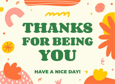Greeting Card Design Template Featuring Wholesome Messages 3351