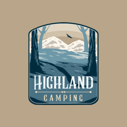 Illustrated Logo Maker for Adventure Tour Companies Featuring Mountain Landscapes 4024