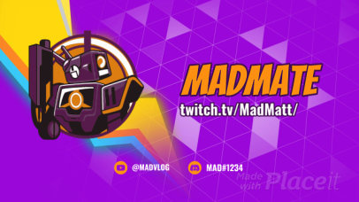Twitch Starting Soon Screen Video Maker with an Animated Robot 2618
