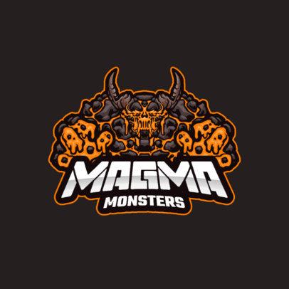 Team Logo Creator with a Graphic of a Magma Golem 3420b-el1