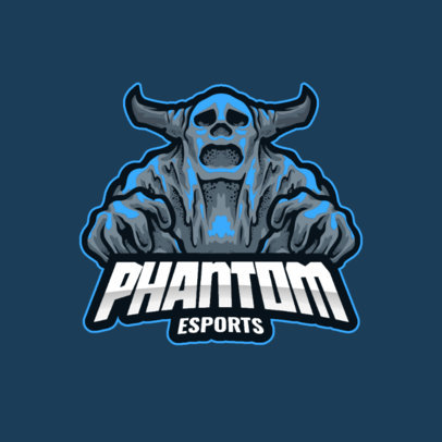 e-Sports Logo Generator with a Graphic of a Terrifying Phantom 3420c-el1