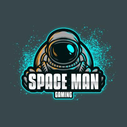 Gaming Logo Maker Featuring Graphics of Astronauts 3426-el1