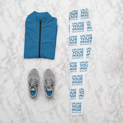 Mockup of a Running Outfit with Women's Leggings m1181