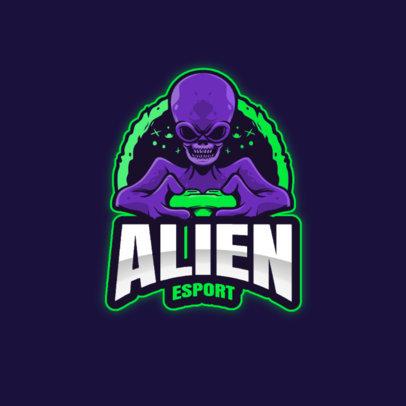 eSports Logo Maker with Alien Character Graphics 3422-el1