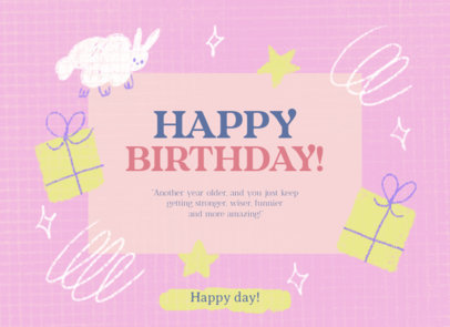 Greeting Card Creator with a Happy Birthday Quote 3350g