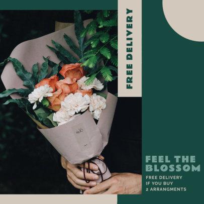 Instagram Post Design Template for Flower Delivery Services 3436a-el1