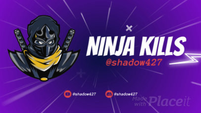 Animated Twitch Starting Soon Screen Video Maker with a Ninja Character 2614
