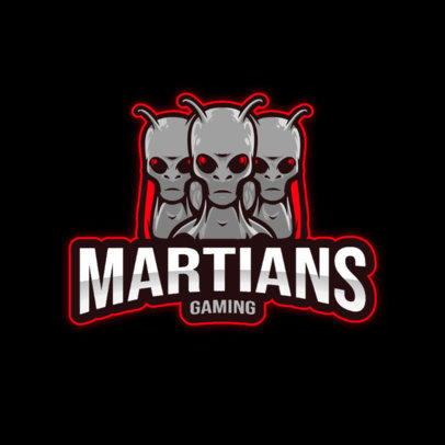 Gaming Logo Maker with a Cool Graphic of Martians 3422c-el1