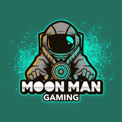 Logo Maker for a Gaming Squad with an Illustration of an Astronaut 3426b-el1