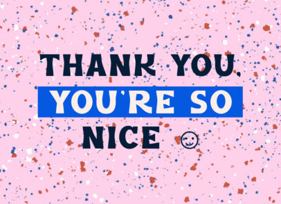 Greeting Card Design Maker with a Nice Thankful Message 3348a