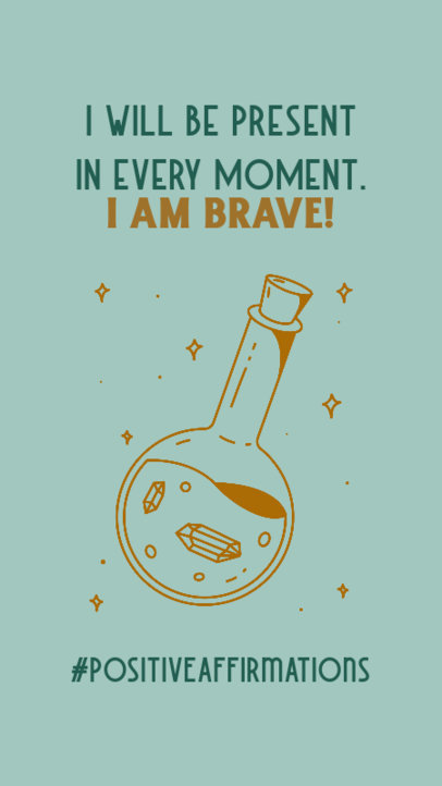 Instagram Story Maker Featuring a Self-Affirmation Quote and a Potion Bottle Graphic 3340e