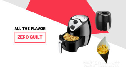 Slideshow Video Maker to Promote a New Air Fryer 1262d -2695